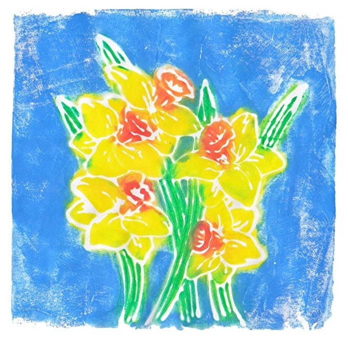 How to: Create Spring Prints with Inktense printing