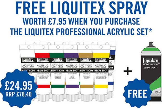 Free spray with your Liquitex acrylic set March 2013