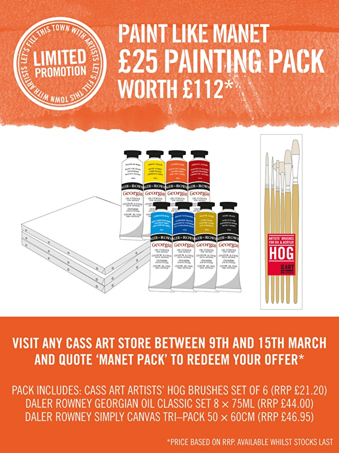 Paint like Manet: £25 painting pack limited edition for March 2013