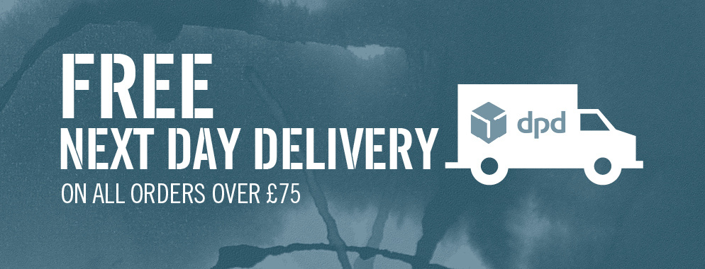 We offer free next working day delivery UK wide on order over £75.
