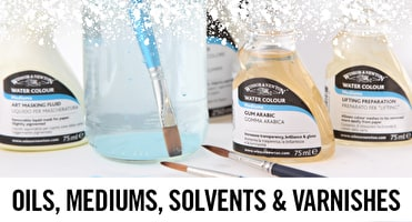 Linseed oil, masking fluid, gesso - these are just some of the Winsor & Newton mediums professional artists need to get started.