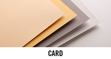 Card can accompany most crafts and we have a range of colours and sizes to choose from.