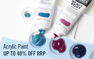 The most modern paint, Acrylic paint comes in all finishes and sizes. We stock brands such as Liquitex, Montana and Golden.