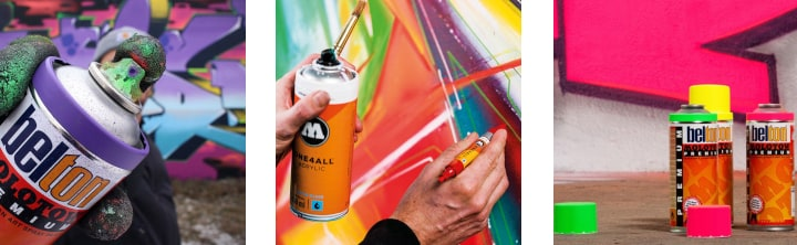 A Guide To Spray Paint Features And Brands Cass Art