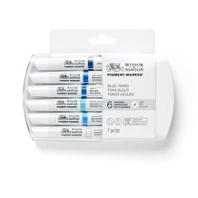 Winsor & Newton Pigment Marker Blue Tones Set of 6