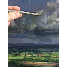 Painting in oil landscape at Cass Art islington, 20th April 1.30-5.30pm