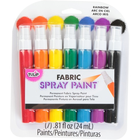 Tulip Fabric Spray Paint Rainbow 24ml Assorted Colours Pack of 7