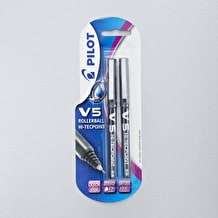 Pilot Pen V5 Liquid Ink Rollerball Fine Line Black Set of 2