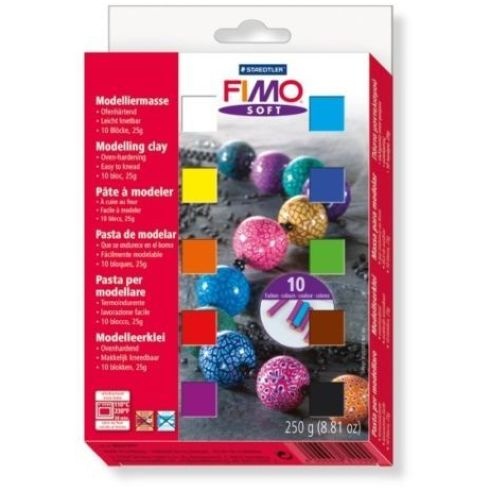 Staedtler Fimo Soft Modelling Clay Half Block Set of 10