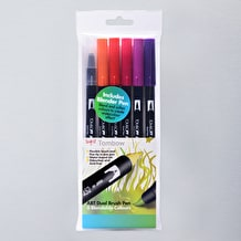 Tombow Dual Brush Pen Sunset Set of 6