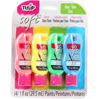 Tulip Soft Fabric Paint Neon 26ml Assorted Colours Pack of 4