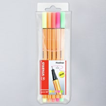 Stabilo Point 88 Fineliner Pen Neon Set of 5