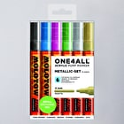 Molotow ONE4ALL Acrylic Pump Marker Metallic Set Round Nib 4mm Set of 6