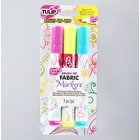Tulip Fabric Markers BrushTip Bright Assorted Colours Pack of 3