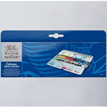 Winsor & Newton Cotman Watercolour 24 Half Pan Metal Sketchers Box
