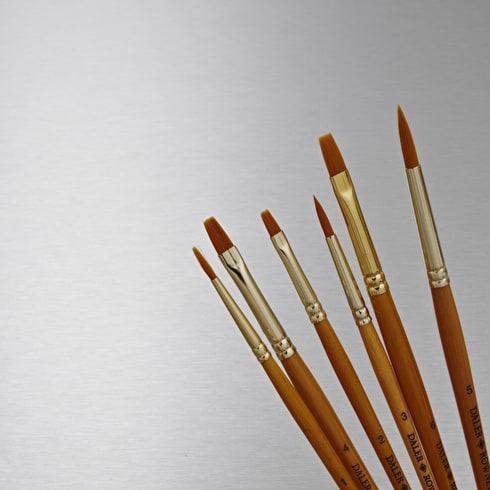 Daler Rowney Simply Gold Taklon Brush Set of 6