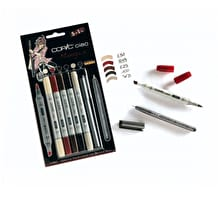 Copic Ciao Markers Manga Tones Set 2 Pack of 6
