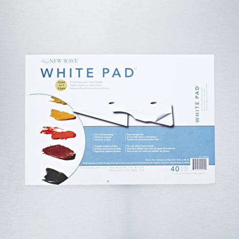 New Wave Disposable Palette Pad 28 x 40 cm White