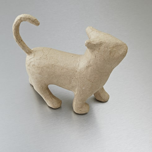 Decopatch Small Papier Mache Animal Walking Cat