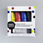 Liquitex Basics Acrylic 4x75ml & 1x118ml Assorted Colours Set of 5