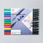 Kuretake Zig Art & Graphic Twin Bright Colours Set of 12