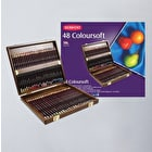 Derwent Coloursoft Pencils Wooden Box Assorted Colours Set of 48