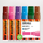 Molotow ONE4ALL Acrylic Marker Basic Set 2 Broad Nib 15mm Set of 6
