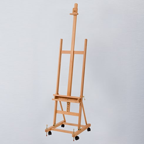 Jullian Oiled Beechwood Mobile Studio Easel on Castors + Locking Bolts