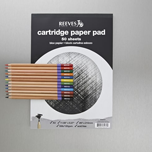 Reeves Oasis Coloured Pencil & Pad Cass Art Exclusive Set