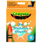 Crayola Big Washable Crayons Pack of 8 Assorted Colours