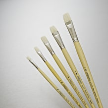 Winsor & Newton Hog Long Handle Flat Brush