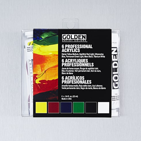 Golden HeavyBody Intro 22ml Assorted Colours Set of 6