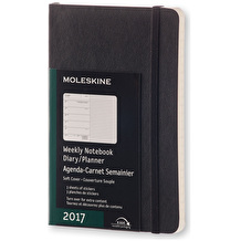 Moleskine Softcover Pocket Weekly Notebook 2017