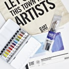 Watercolour Professional Set with Paint, Paper, Brushes and Gift Bag
