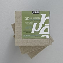 Pebeo 3D Natural Linen Canvas Triple Pack 10 x 10cm