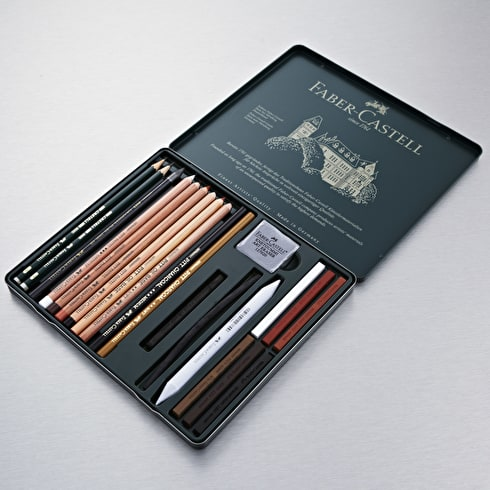 Faber-Castell Pitt Monochrome Set Medium | Pencils | Cass Art