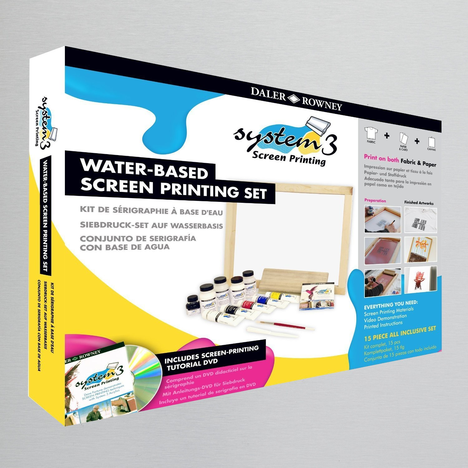 Daler rowney system 3 screen printing set screen for Cricket printing machine craft supplies
