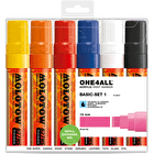 Molotow ONE4ALL Acrylic Marker Basic Set 1 Broad Nib 15mm Set of 6
