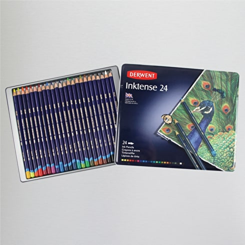 Derwent Inktense Pencil Tin Set of 24 Assorted Colours