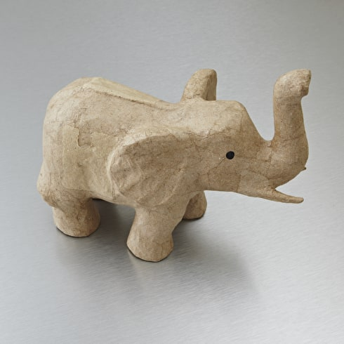 Decopatch Small Papier Mache Animal Elephant With Trunk Up