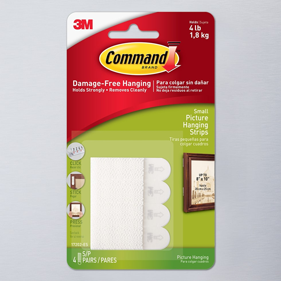 Command Picture Hanging Strips Small White Pack Of 4 Tapes