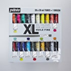 Pebeo XL Oil 20ml Assorted Colours Pack of 20 + Free Brush