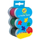 Galt Washable Poster Paints Set of 6 Assorted Colours