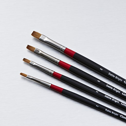 Daler Rowney Georgian Sable Bright | Artist Brushes | Cass Art