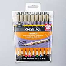 Pigma Brush Wallet 9 Assorted