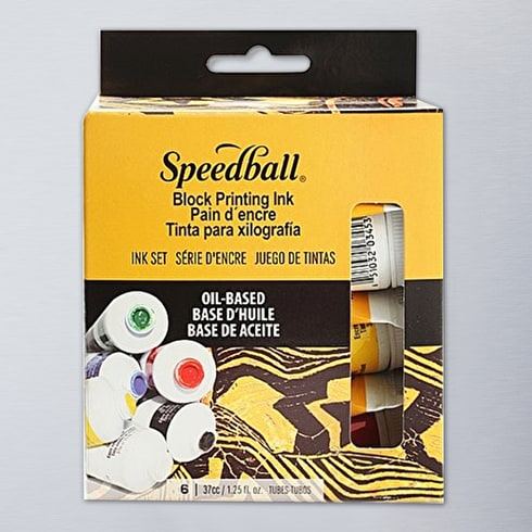 Speedball Oil Based Block Printing Ink Starter Kit | Lin Printing | Cass Art
