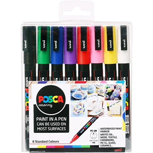 Posca Paint Marker PC-3M Starter Pack 0.9-1.3mm Set of 8