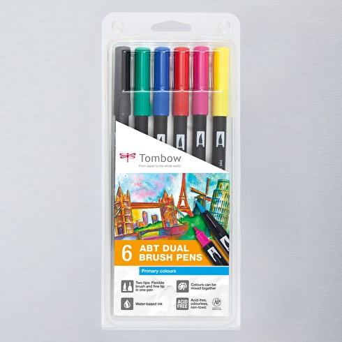 Tombow Dual Brush Pen Pack of 6