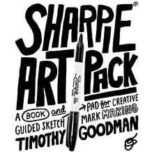 Sharpie Art Pack A Book and Guided Sketch Pad for Creative Mark Making by Timothy Goodman