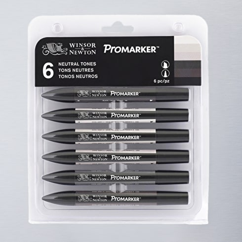 Winsor & Newton ProMarker Neutral Tone Set of 6
